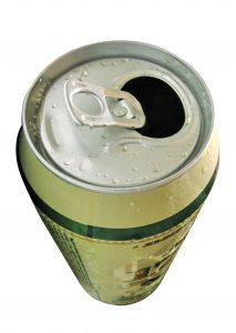 Beer Can Top Close-Up
