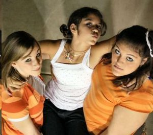 teen girls having fun