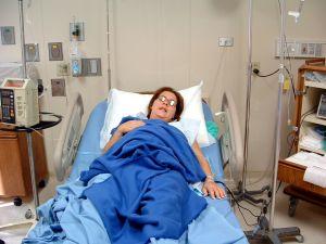 woman hospitalized